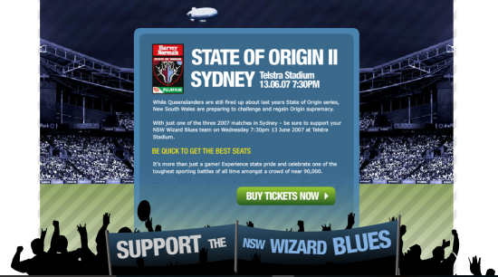 State of Origin Harvey Norman Telstra