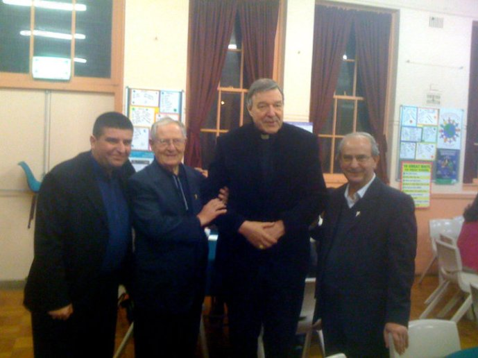 Dinner with Cardinal George Pell