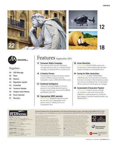 FPA Financial Planners Association of Australia, Raciti Designs, UX Designs, Sydney UX Designs